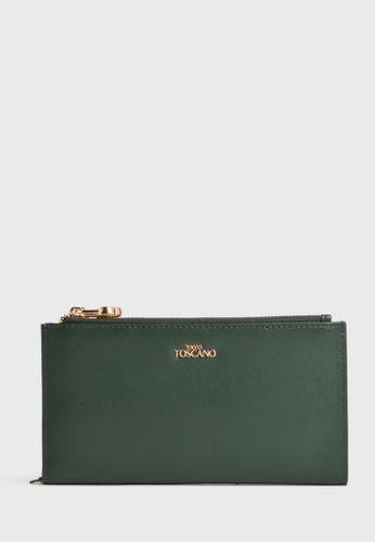 Tocco Toscano green Fel Long Wallet (Green) 1CB82AC5FC38E1GS_1