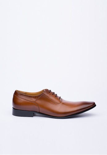 Kings Collection brown Delray Leather Shoes 6CDF6SH041B44CGS_1