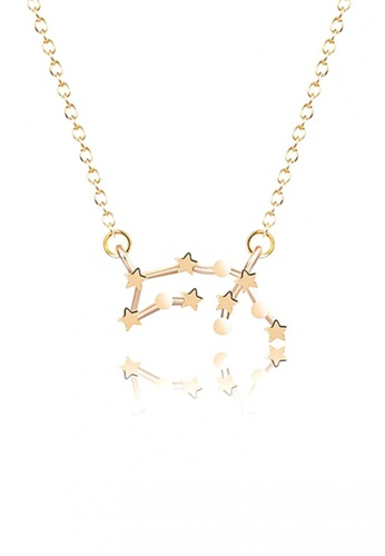 LOVENGIFTS gold LOVENGIFTS Origami Horoscope Aquarius Long Necklace (Gold) LO429AC48RGLMY_1