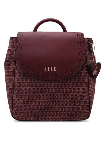 ELLE red Romantic Backpack 2F34DAC017DCDAGS_1