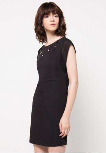 WHITEMODE black Carina Dress WH193AA10HCNID_1