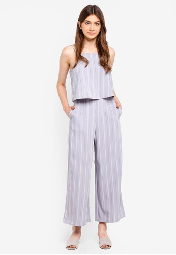 Something Borrowed blue Double Layer Palazzo Jumpsuit 1D25FAA0467F2CGS_1