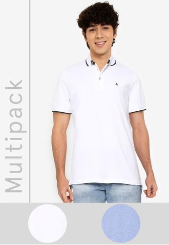 Jack & Jones blue 2 Packs Paulos Polo Shirts 5E3BEAA99AD7C5GS_1