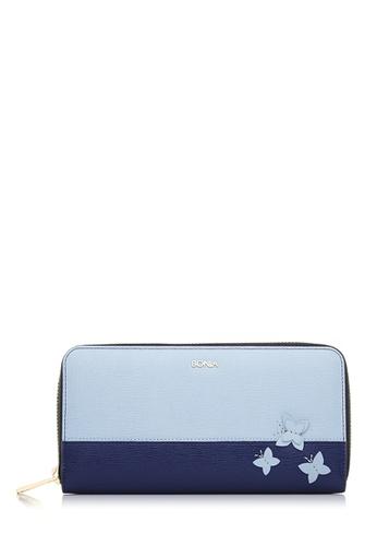 BONIA blue Mint Blue Morpho Wallet BO777AC47CMQMY_1