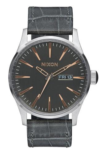 Nixon grey Nixon - Sentry Leather Grey Watch NI855AC71EEUSG_1