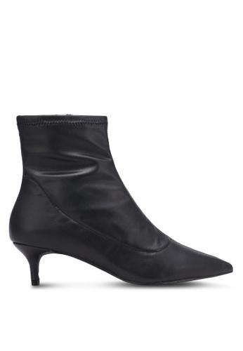 Free People black Marilyn Kitten Heel Boots FR659SH0S3NKMY_1