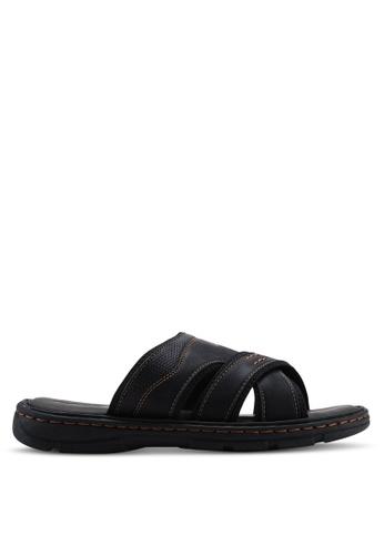 Louis Cuppers black Criss-Cross Flat Sandals A0270SHE753E71GS_1