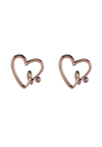 agnès b. gold 18k Rose Gold Plated Earrings 99FD3ACD3138EFGS_1