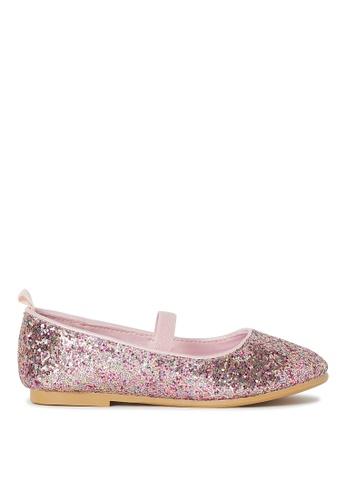 H&M pink Ballet Flats 75641KS3D77AAAGS_1
