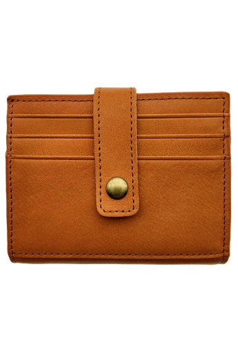 LUXORA brown The Ninja Co. Top Grain Leather Billfold Multicard Wallet Card Gifts Holder Purse 6BE4BACDAC1E94GS_1