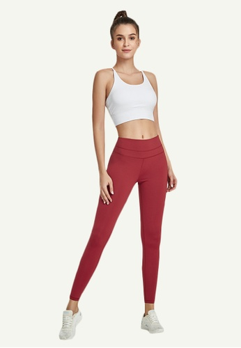 B-Code red ZWG7002Lady Quick Drying Running Fitness Yoga Sports Leggings -Red 873EDAAD4E0493GS_1