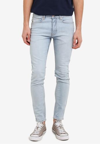Topman blue Stone Wash Stretch Skinny Jeans TO413AA0RZZSMY_1
