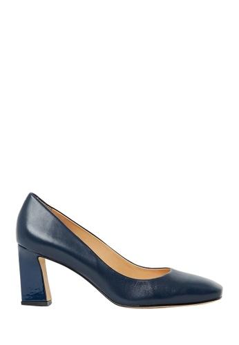 Nina Armando navy Florence Leather Mid Heel NI342SH0FV8TSG_1