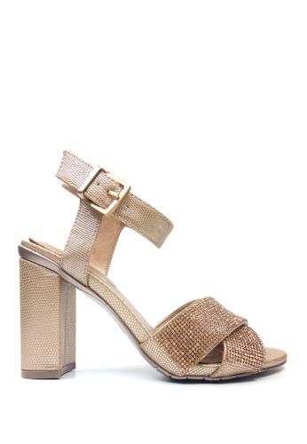 Kenneth Cole New York gold CRASH JEWEL - Heel Dress Sandals KE615SH47ADCMY_1
