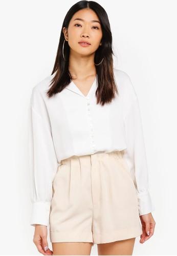 Shopsfashion white Button Up Shirt 39696AAA6EB266GS_1