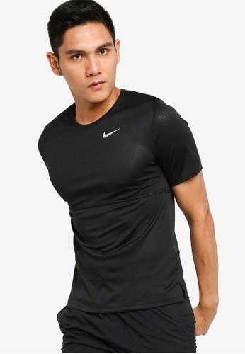 Nike black As M Nk Breathe Run Ss 7AC75AA85AB0AAGS_1