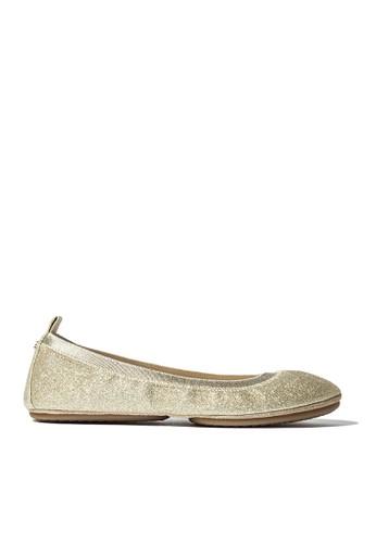 Yosi Samra gold Samara Sandpaper Glitter in Gold YO065SH0UCDQID_1