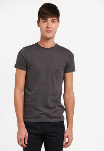 ESPRIT grey Short Sleeve T-Shirt ES374AA0S8USMY_1