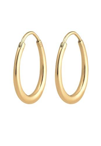Elli Germany gold Perhiasan Wanita Perak Asli - Silver Anting Creol Hanger Basic Lapis Emas B7C5EACD05E7AEGS_1