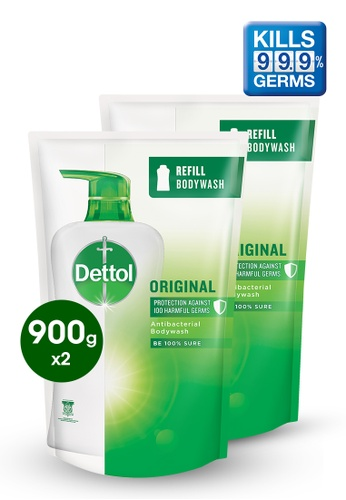 Dettol Dettol Body Wash Original Refill 900g - Bundle of 2 43AABES34D14A2GS_1