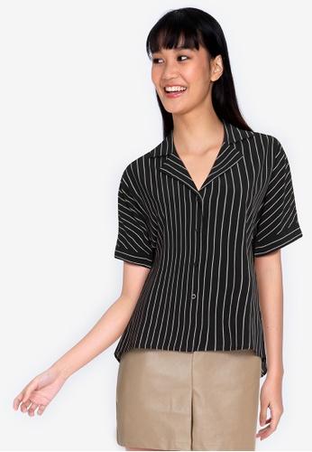 ZALORA BASICS multi Buttoned Striped Shirt 35AEDAAC14F7B2GS_1