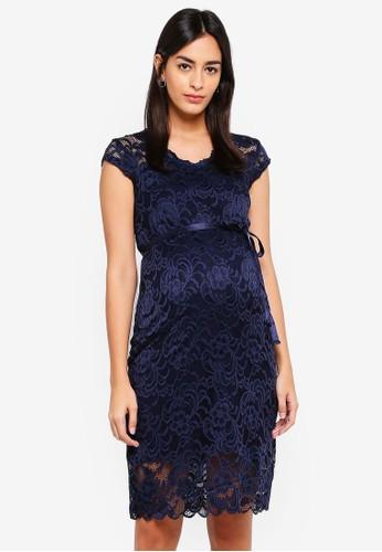 Mama.licious navy Mivana Cap Jersey Dress F9ED2AA5695DF8GS_1