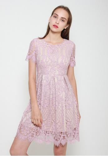 Leline Style pink Mira Lace Dress C3A28AAB35EB8BGS_1