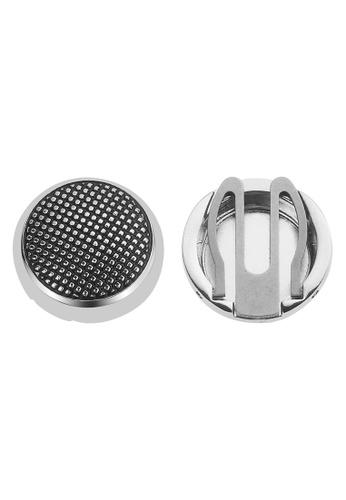 CUFF IT black Silver Dotted Button Cover Cufflinks 09E82AC626C907GS_1