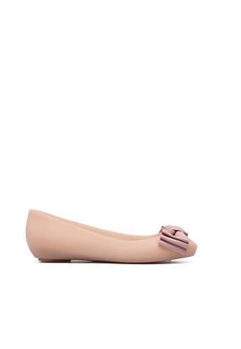 Halo pink Summer Bow Waterproof Flats Shoes HA156SH87QAAHK_1