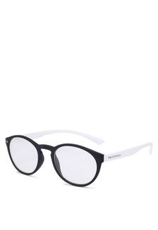 1cdbc18cc00c Elitrend Unisex Half Frame Designer Glasses in Black   Silver S  14.90. The  Plato Sunglasses E3C03GLDEEB5EFGS 1