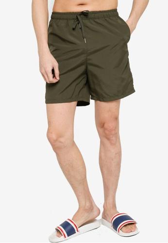 ZALORA BASICS green Long Board Shorts 2111FAABDE7F4AGS_1