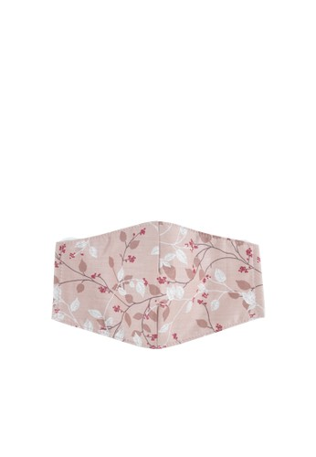 MAYONETTE pink MAYONETTE Hijab Floral Leaf Masker Kain Katun Premium 3 Ply Dewasa Nonmedis - 3 pcs - Pink 6CB68ESE91656FGS_1