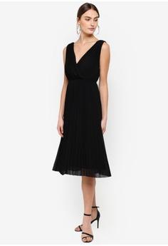 c8c217bdcd0 FORCAST black Norah Pleated Dress 5579EAA423A572GS 1