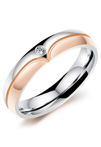 Trendyshop silver and gold Women's Heart Ring (Gold) TR116AC2WD8HHK_1