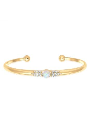 ELLI GERMANY gold Elli Germany Bracelet Bangle with Swarovski® Crystals in 925 Sterling Silver RoseGold-Plated 02597ACAE57104GS_1