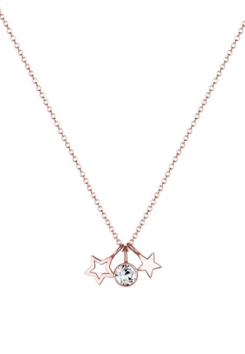 Elli Germany gold Elli Germany Necklace Stars Astro Swarovski Crystals 925 Silver EL474AC0SEV5MY_1