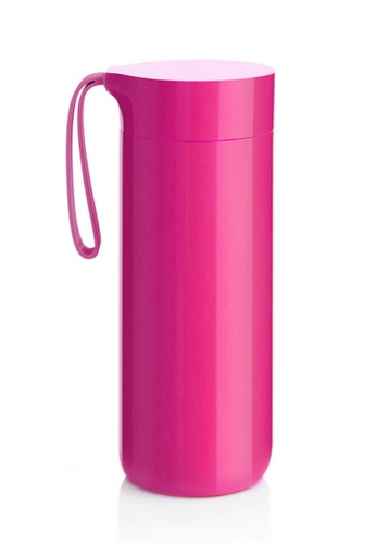 Artiart pink Butterfly Thermal Suction Bottle (Pink) Design By ArtiArt 91927HL70B0D05GS_1