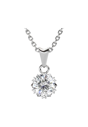 Her Jewellery silver CELÈSTA Moissanite Diamond - Le Fond Pendant (925 Silver with 18K White Gold Plating) by Her Jewellery 669EFAC40DB22AGS_1