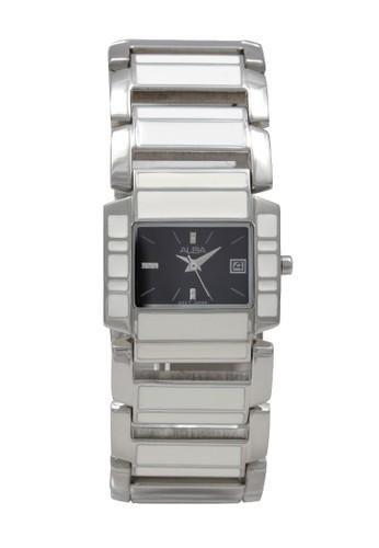 Alba white and silver ALBA Jam Tangan Wanita - Silver White Black - Stainless Steel - AXT951 084F0AC8F59942GS_1