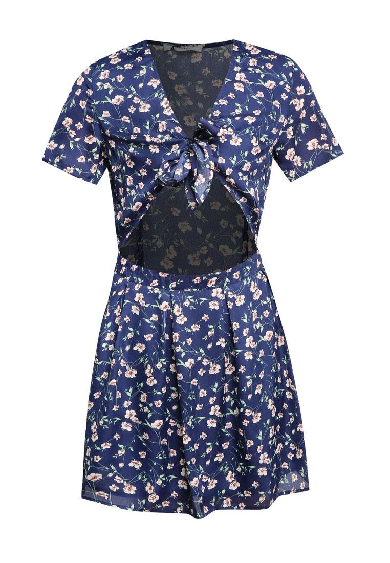 Ladies Navy Flower Ditsy Dress Glamorous wFYF0ASU