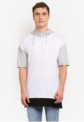 Factorie white Morrison Drop Hooded S/S Tee FA880AA0SAB3MY_1