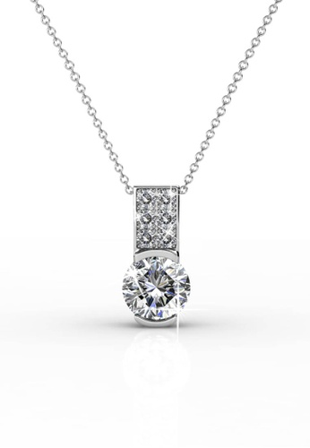 Her Jewellery silver Her Jewellery Simply Pendant with Premium Grade Crystals from Austria 1019CAC44342ADGS_1