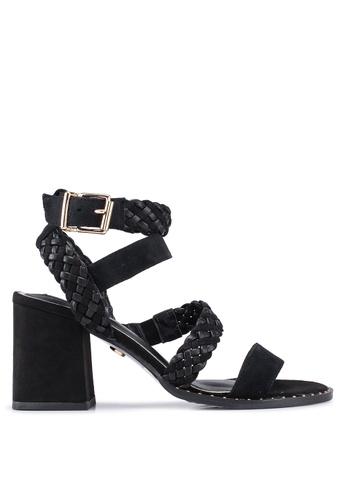 River Island 黑色 Bonnie Woven Block 高跟鞋 2D7A1SH8BD08E5GS_1