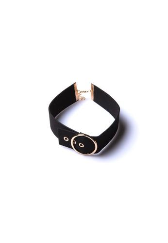 Limkokwing Fashion Club black Buckle Choker LI086AC91QPGMY_1