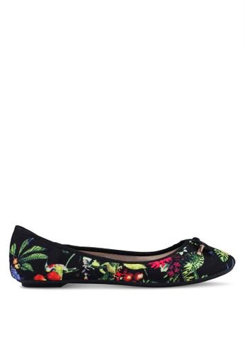 Carlton London 黑色 花卉蝴蝶結平底鞋 C4AEFSH44A03E0GS_1