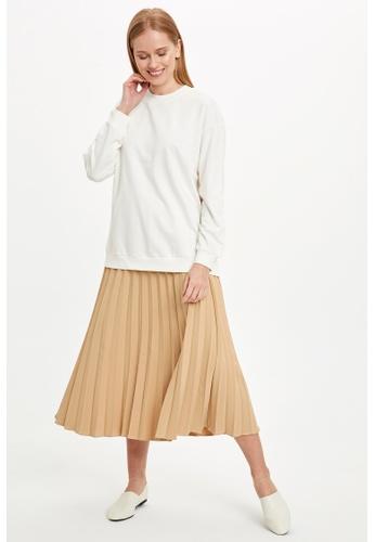DeFacto brown Woman Woven Skirt 7E5E3AA1863580GS_1