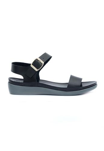 Ohrelle black Derle Buckled-Strap Flip Flops OH449SH47FOYPH_1