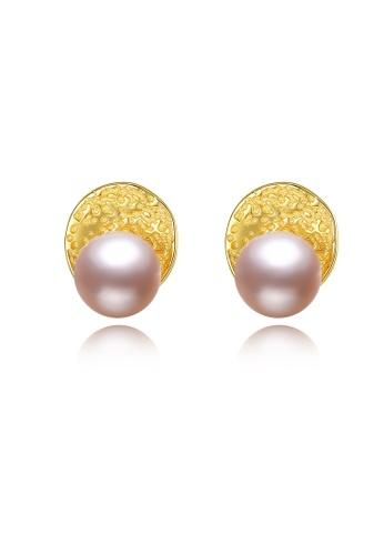 SUNRAIS gold Premium color stone gold simple design earrings FEFD2AC0DC712FGS_1