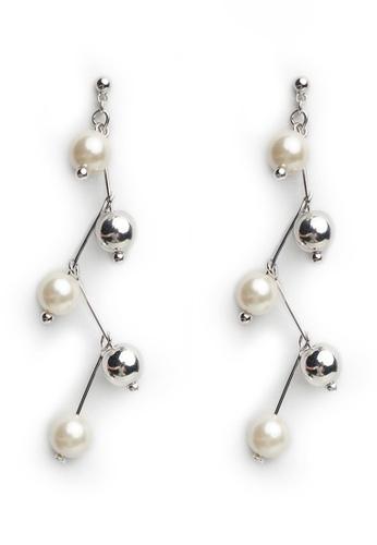 Gung Jewellery silver Rayna Pearl Earrings in Silver 41CD0AC9110665GS_1