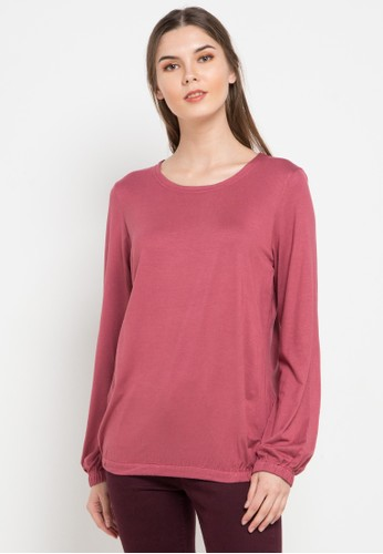 Expand pink Round Collar Shirt With Elatic Bands 959AAAA8F33F11GS_1